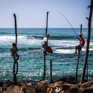 Famous fishermen along the south coast.
