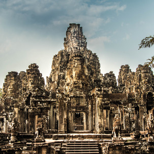 Angkor Thom, the temple with hundreds of faces carved in the stone.
