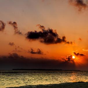 Amazing sunset at Maldives.