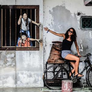 Penang urban art. Brother and Sister.