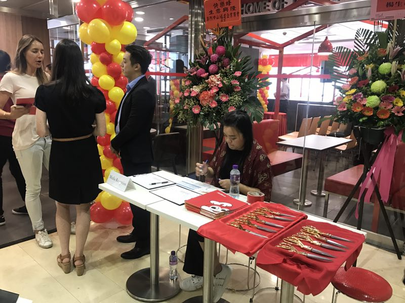 Registration counter and the media kit distribution