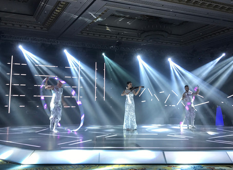 LED Cyr Wheel & Live Violin Act @ NEXA Gala Dinner 2019