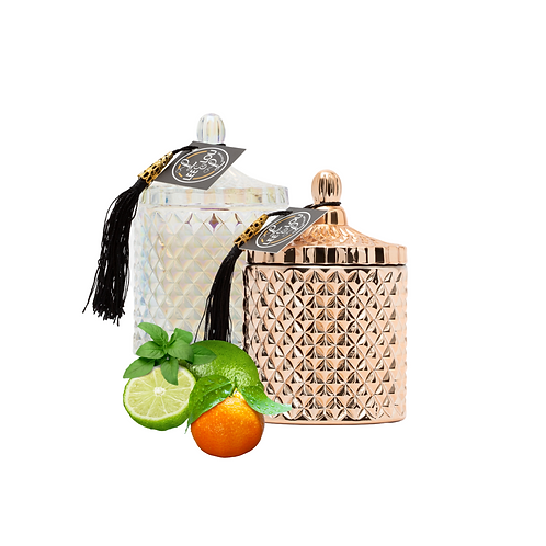 GEO Candle Collection  - Lime, Basil & Mandarin