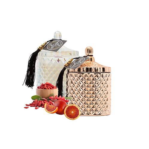 GEO Candle Collection  - Berry & Tarocco Orange