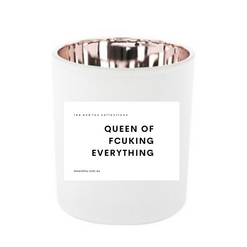 "Soy Wood Wick Candle ""QUEEN OF FCUKING EVERYTHING"""