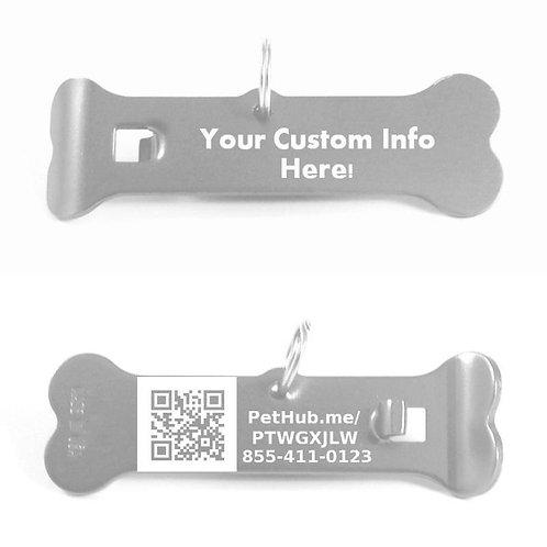 Size: Large / Front: Custom / Back: QR / Color & Text: Select Below