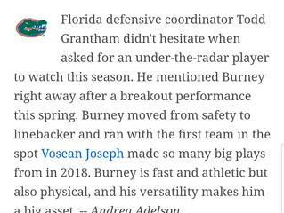 """Burney"" No 8 on top 25"
