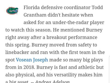 """Burney"" No 8 on top 25"