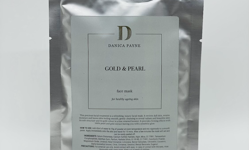 Luxe Pearl & Gold Face Mask