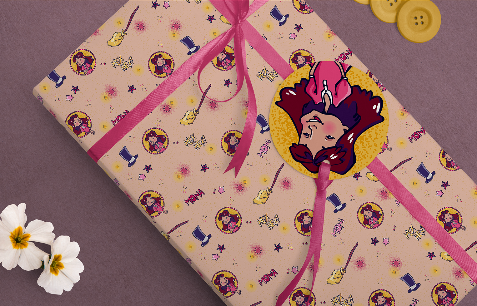 Wrapping Paper Moni