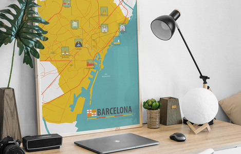 Illustrated Map Barcelona
