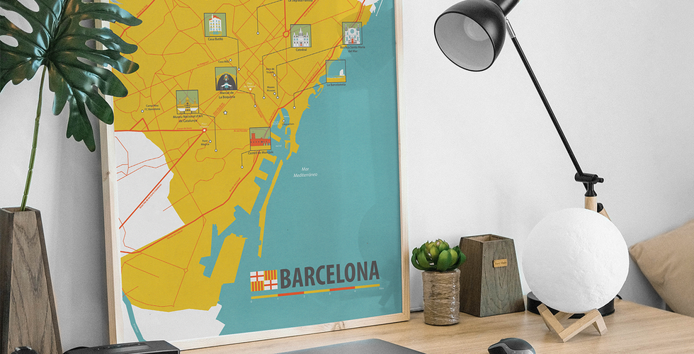 Illustrated Map Barcelona