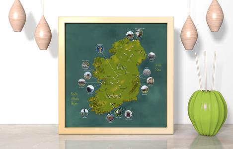 Illustrated Map Ireland