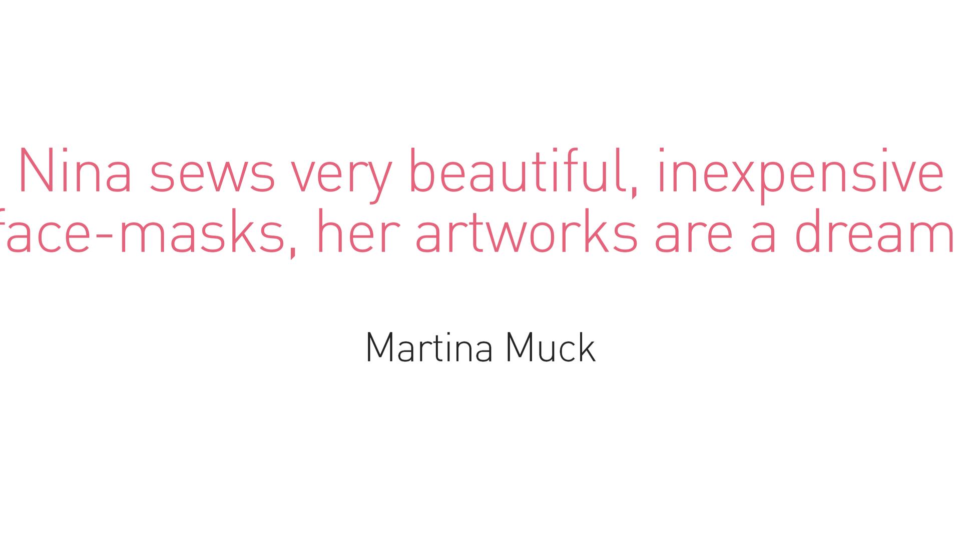Testimonial - Martina Muck