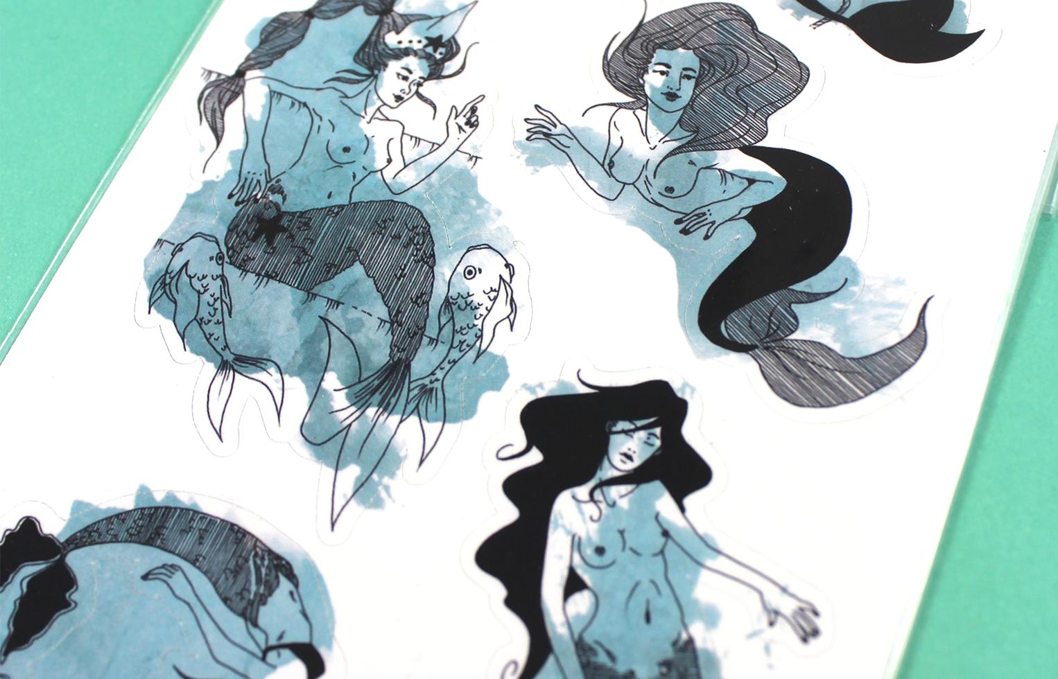 Sticker Sheet Mermaids