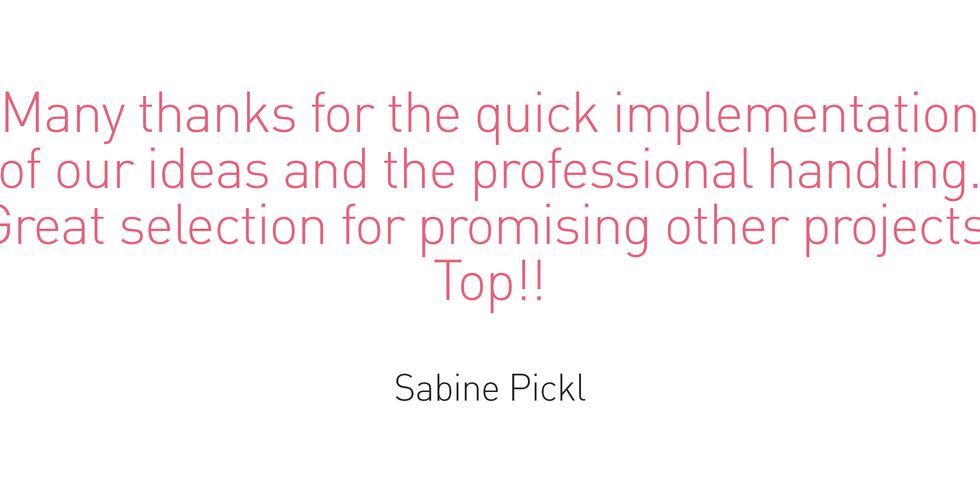 Testimonial - Sabine Pickl