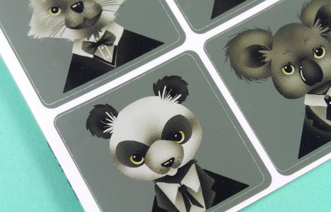 Sticker Sheet Animals In Suits