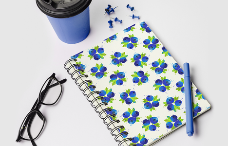 Notebook Blueberries