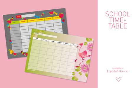 School Timetable - Sweet Tooth - Flaming