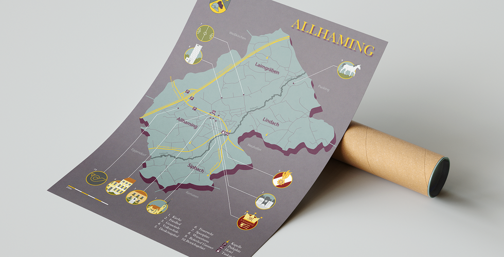 Illustrated Map Allhaming_