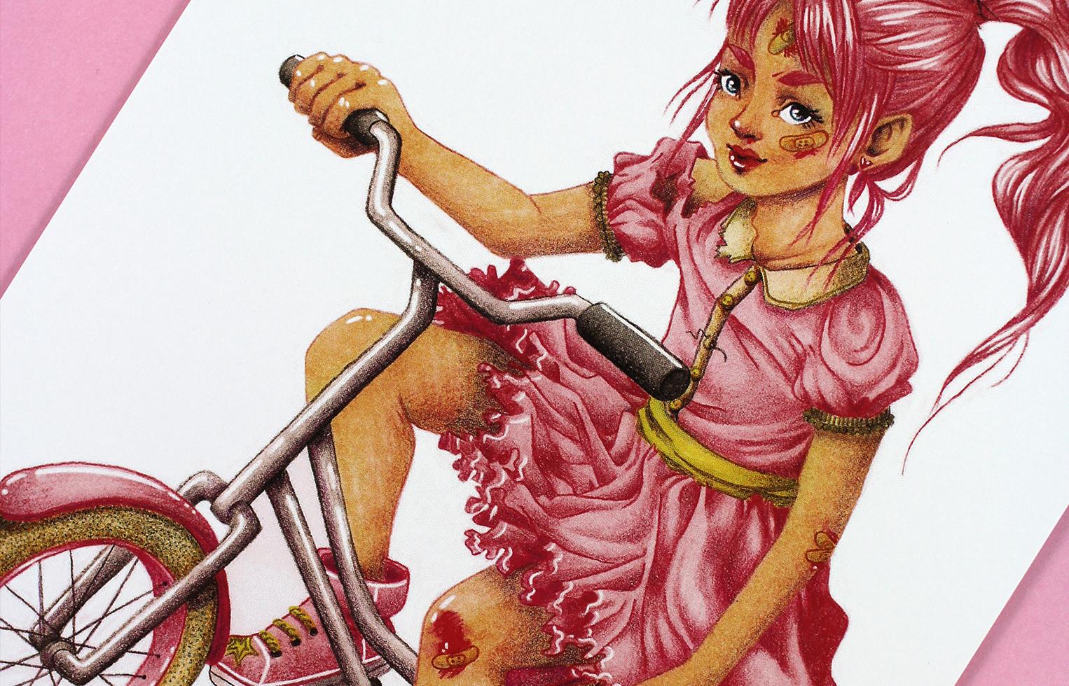 Print Biker Girl