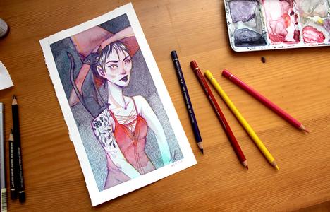 Illustration Witch