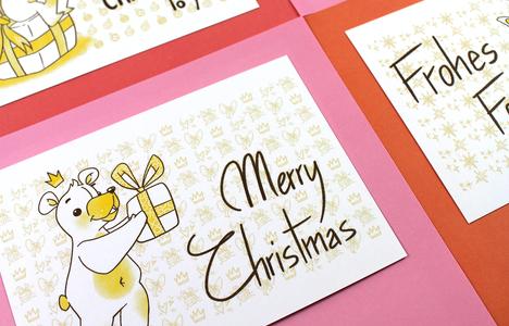 Postcards Christmas Bears