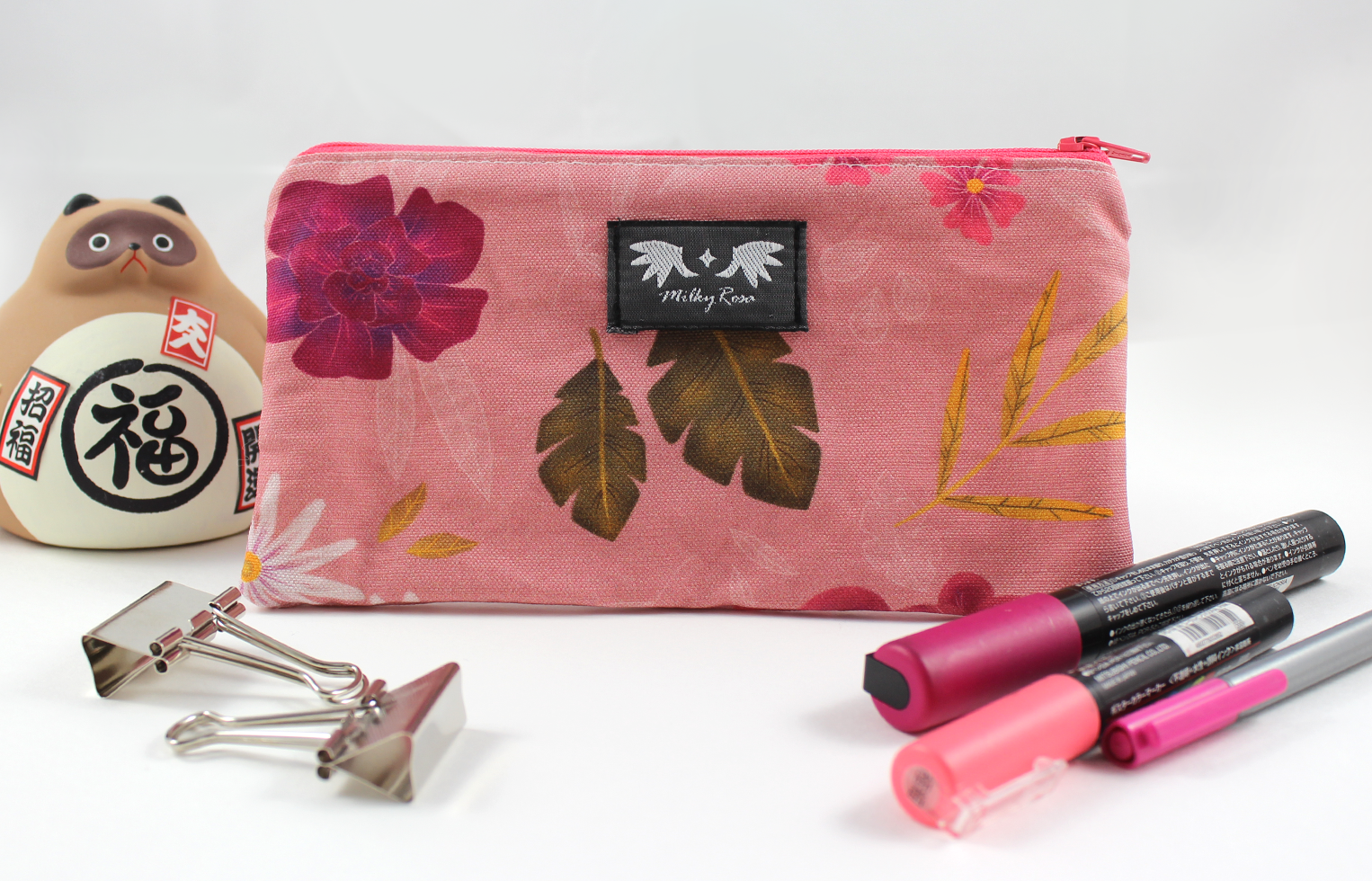 Pouch Pink Flowers