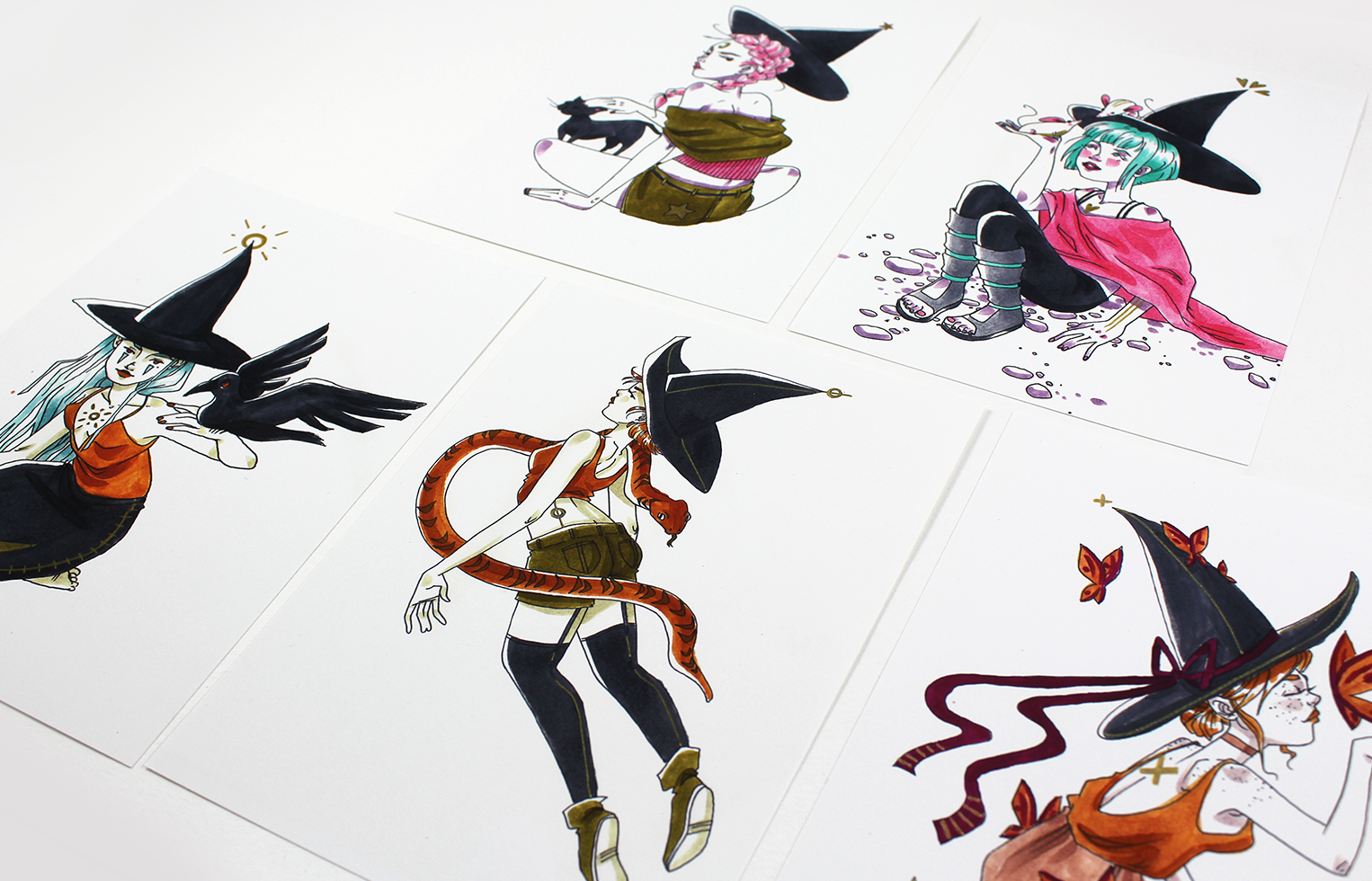 Prints Witches Familiars