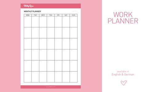 Work Planner - monthly
