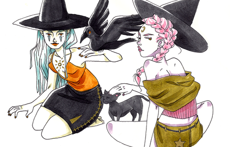 Illustrations Witches Familiars