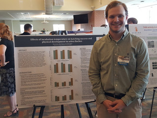 Bain's presentation at AU student research symposium