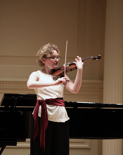 Christine Bernsted in Weill recital Hall, Carnegie Hall
