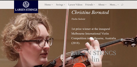 Christine Bernsted Larsen Strings Artist