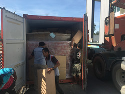 Cargo unloaded from container
