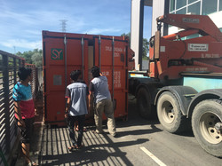 Container Send to Warehouse by Side Loader