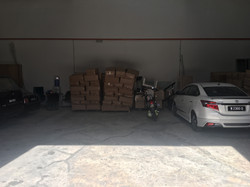 Cargo kept in warehouse before delivery/shipping