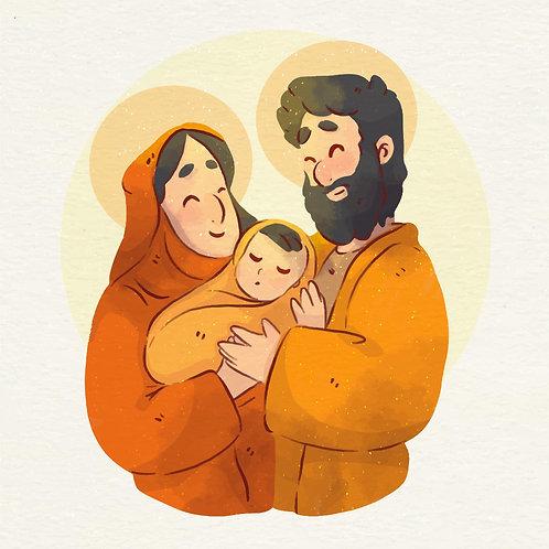 Hình Đức Mẹ, Thánh Giuse màu nước