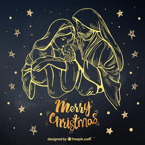 Chúa Giáng Sinh Line Art