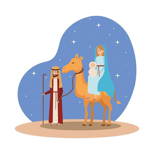 Thánh Giuse đưa Đức Mẹ và Hài Nhi trốn sang Ai Cập