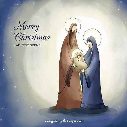 Hình Giáng Sinh màunước