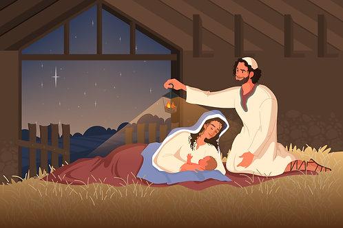 Đức Mẹ sinh Chúa Giesu trong hang đá