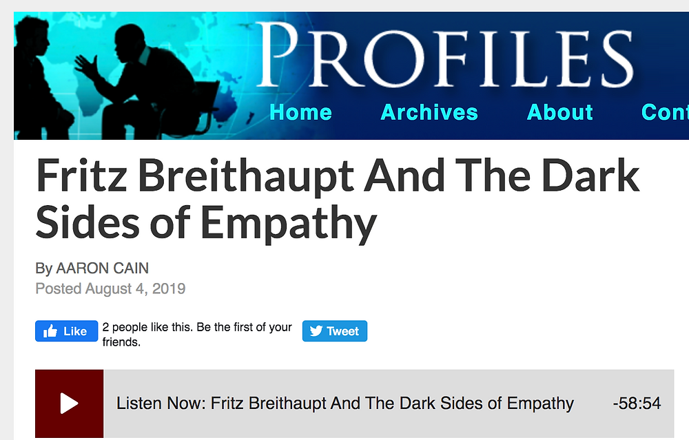 Indiana Public Media Profiles interview with Fritz Breithaupt