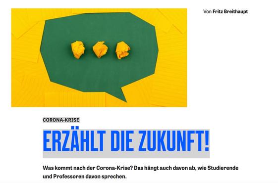 CORONA-KRISE: ERZÄHLT DIE ZUKUNFT!