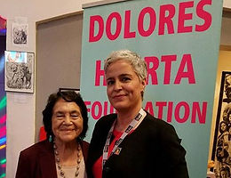 Dolores Huerta and Betty Valencia