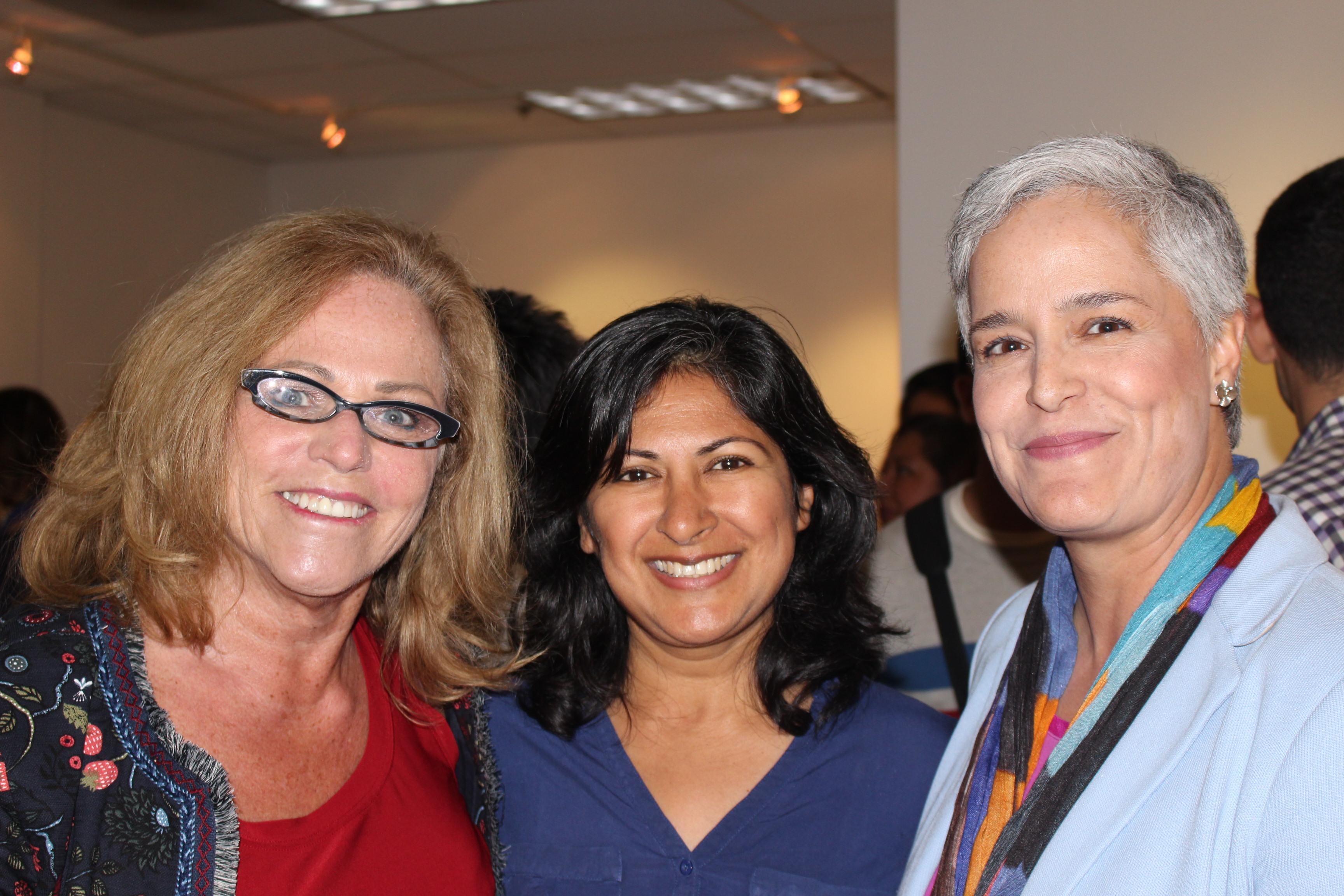 With Mary Navarro and Farah Khan