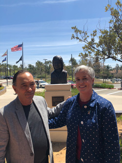 With Sculptor Juan Rosillo