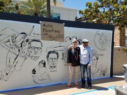 With Emigdio Vasquez- Muralist