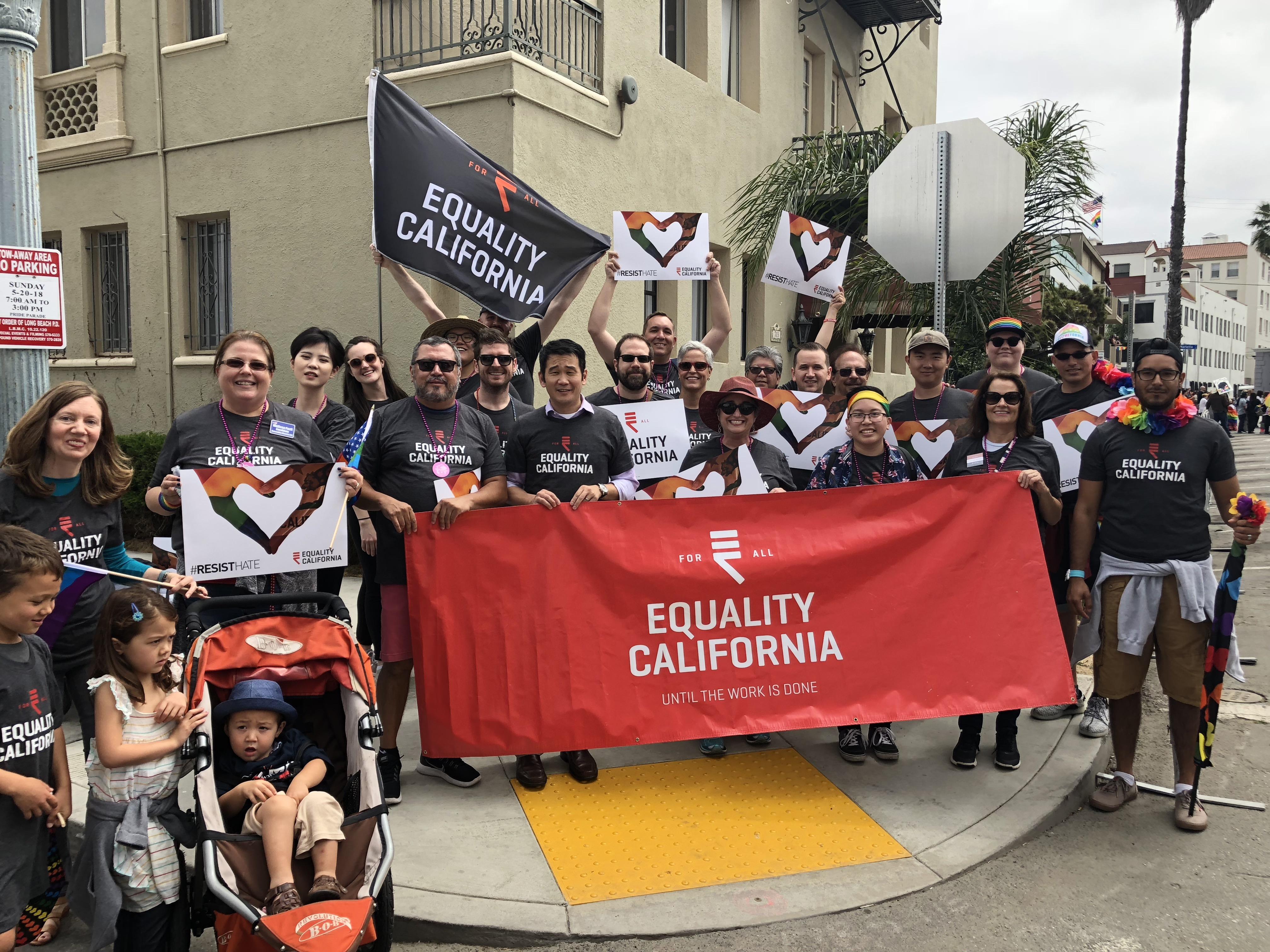 Parade participants Long Beach Pride