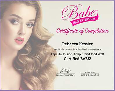 BABE HAIR EXTENSION CERTIFICATION